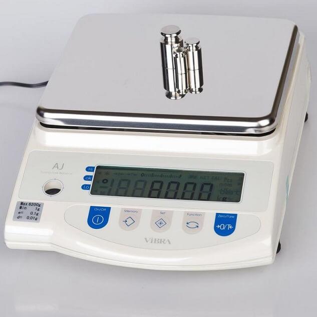 Весы лабораторные AJ VIBRA калибровка